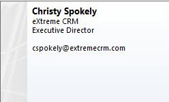 Christy Spokely, eXtreme CRM