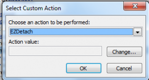 Select Custom Action - EZDetach