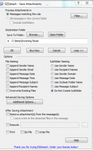 Save Outlook Attachments