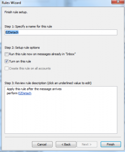 Assign a Name for Inbox Rule