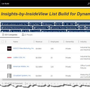 Insights by InsideView List Build