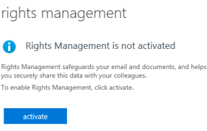 to activate Rights Management