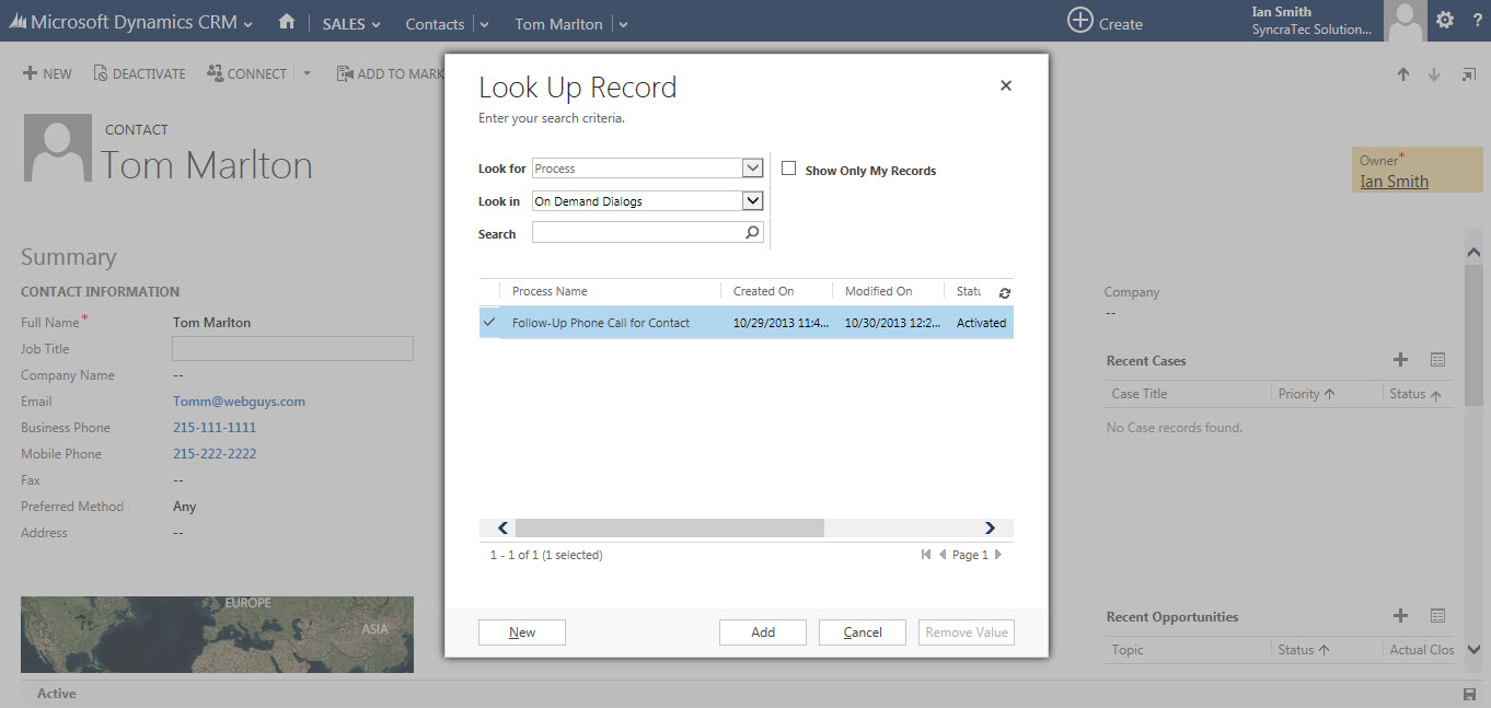 scheduling phone calls in crm 2013 syncratec a crm 2013 follow up phone call dialog