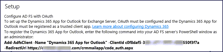 Dynamics 365 App for Outlook Hybrid Deployment Issue