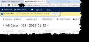 CRM 2013 Sandbox Instance