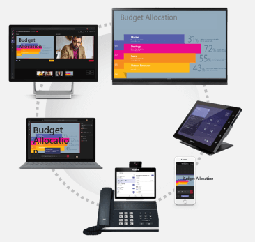 Access Teams meetings across devices where you are: at home, in the office, or on the go.