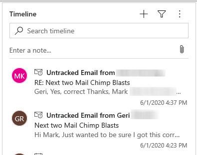 Auto Capture Untracked emails