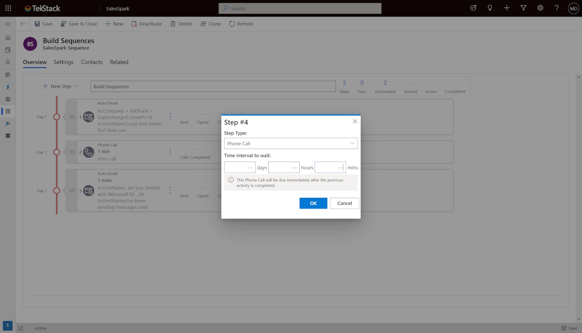 easily build sales engagement sequences