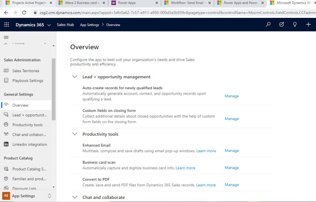 Dynamics 365 Scanning a Business Card Configuration