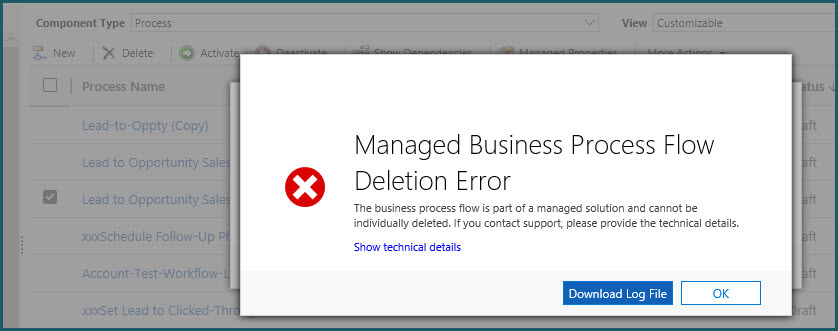 Remove Business Process Flows in Dynamics 365 - SyncraTec