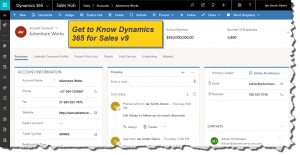 Dynamics 365 for Sales v9