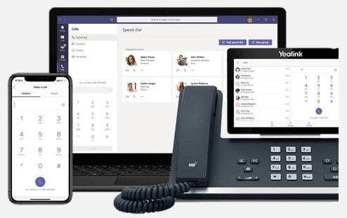 Make Teams your primary phone system to make and receive calls.