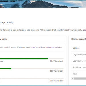 Dynamics 365 Capacity Summary