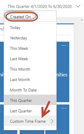 Dashboard Time Frame Filter